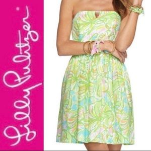 Lilly Pulitzer I Richelle Tie Back strapless dress